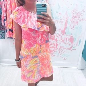 Lilly Pulitzer One Shoulder Dress